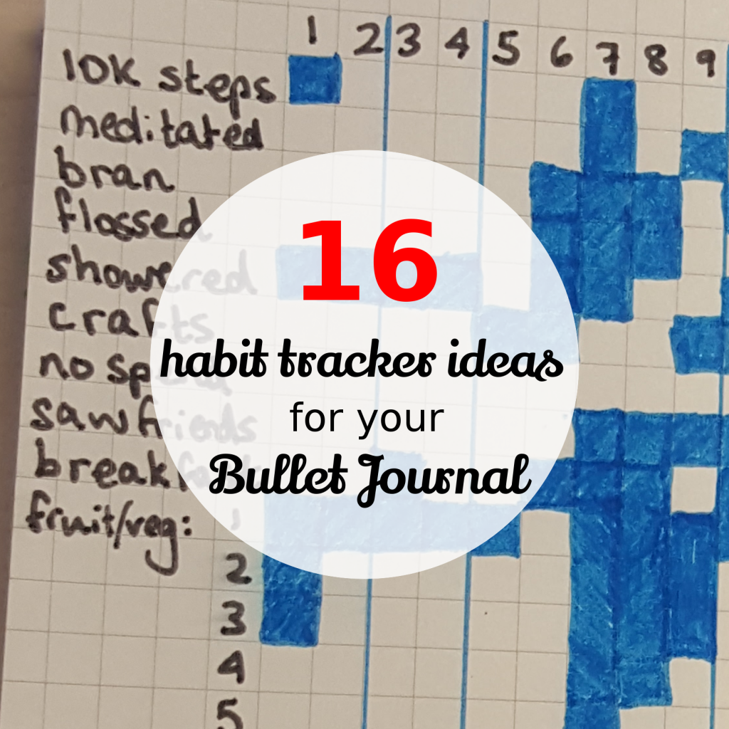 16 habit tracker ideas for your bullet journal