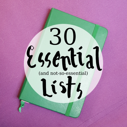 30 essential (and not-so-essential) lists for your bullet journal