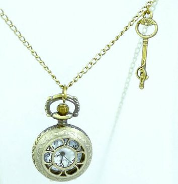 Key to Paradise bronze pocket watch