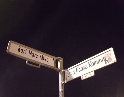 Signposts in East Berlin