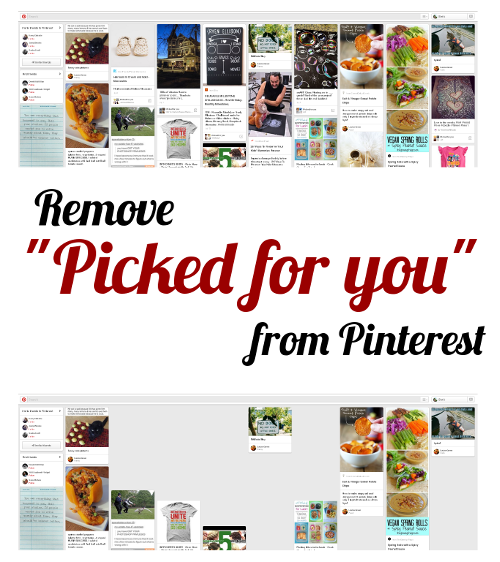 Remove Picked For You pins from Pinterest
